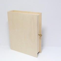 Krabička knížka se zámečkem na klíček