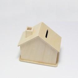 Dřevěná pokladnička domek