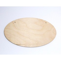 Destička dřevo ovál 24x14