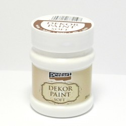 Dekor Paint Soft 230ml bílá (Pentart)