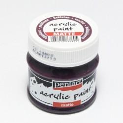 Akrylová barva Pentart 50ml - baklažán, matná