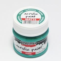 Akrylová barva Pentart 50ml - tyrkysová, matná