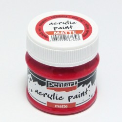 Akrylová barva Pentart 50ml - růžovočervená, matná
