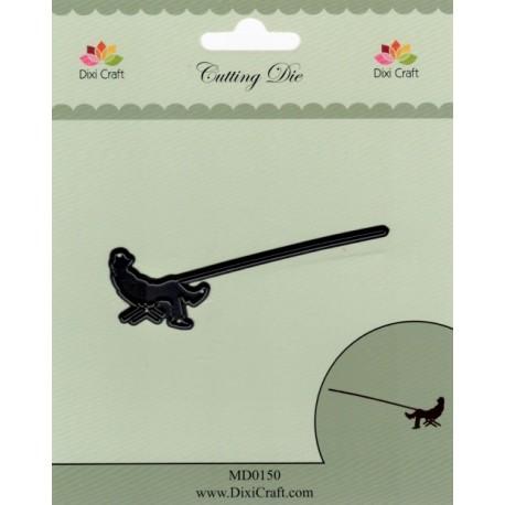Vyřezávací šablona - Sedící rybář