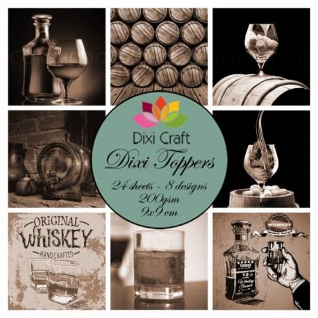 Sada kartiček 9x9cm - Whiskey Vintage (Dixi Craft)