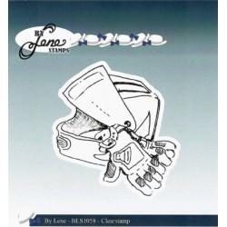 Transp.razítko - Motorkářská helma a rukavice
