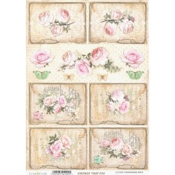 Scrap.papír A4 Vintage Time, růže