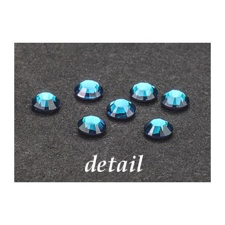 Hot- Fix kamínky akvamarín modré 4 mm