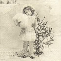 Dívka a stromek 33x33