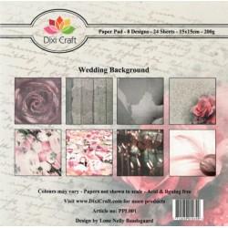 Sada papírů 15x15 Svatební (Dixi Craft)