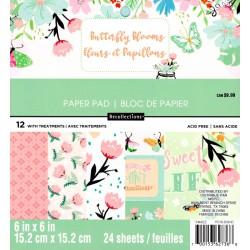 Sada papírů 15x15 Butterfly Blooms (Craft Smith)