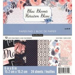 Sada papírů 15x15 Blue Blooms (Craft Smith)