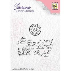 Transp.razítka Textura - dopis (Nellie´s Choice)