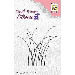 Transp.razítko Silueta - kvetoucí trávy (Nellie´s Choice)