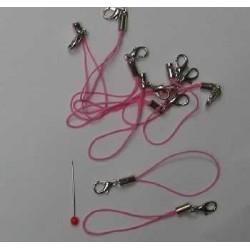 Závěs na mobil s karabinkou - růžový