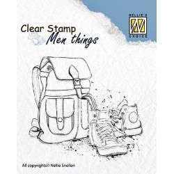 Transp.razítko Pro muže - batoh a boty (Nellie´s Choice)