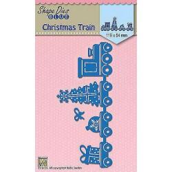 Vyřezávací šablony - Vánoční vlak (Nellie´s Choice)