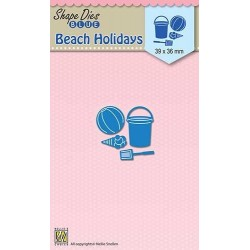 Vyřezávací šablona - Prázdniny na pláži (Nellie´s Choice)