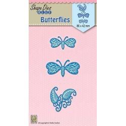 Vyřezávací šablony - Motýlci (Nellie´s Choice)