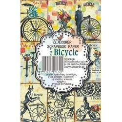 Sada scrap.kartiček 7x10,8cm - Bicycle (Decorer)