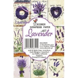 Sada scrap.kartiček 7x10,8cm - Lavender (Decorer)