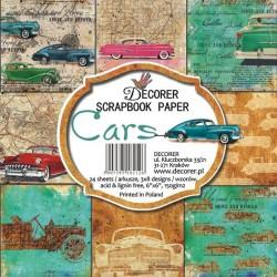 Sada papírů Cars15x15 (Decorer)