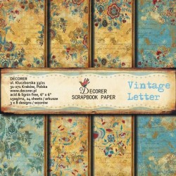 Sada papírů Vintage Letter 15x15 (Decorer)