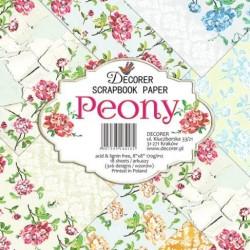 Sada papírů Peony 20x20 (Decorer)