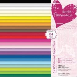 Sada barevných papírů 15x15 160g, 48ks