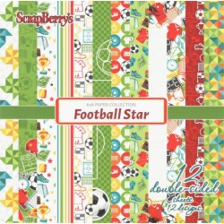 Sada papírů Football Star 15x15