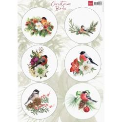 PapírA4 vánoční ptáčci č.1 (MD)