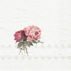 Dvě růže v borduře 33x33