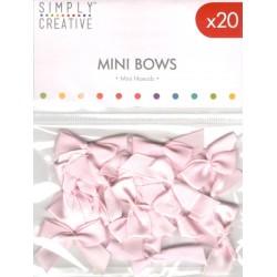 Mini mašličky, růžové, 20ks (Simply Creative)