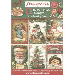 Scrapbookové karty 11,4x16,5cm 190g Christmas Vintage
