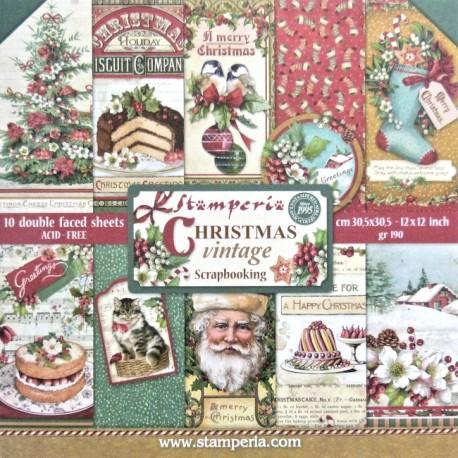 Sada papírů 30,5x30,5 190g Christmas Vintage
