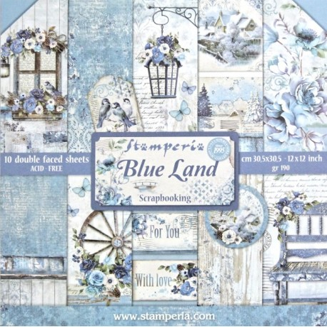 Sada papírů 30,5x30,5 190g Blue Land