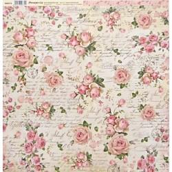 Pink Christmas, růže a písmo 30,5x30,5 scrapbook