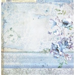 Blue Land, květy 30,5x30,5 scrapbook