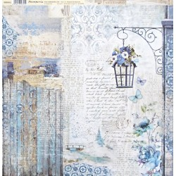 Blue Land, lampa 30,5x30,5 scrapbook