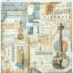 Music, housle 30,5x30,5 scrapbook