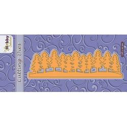 Vyřez.šablona - bordura ze stromů (Nellie´s Choice)