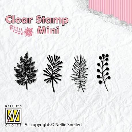 Transp.razítka Mini - vánoční větvičky 1 (Nellie´s Choice)