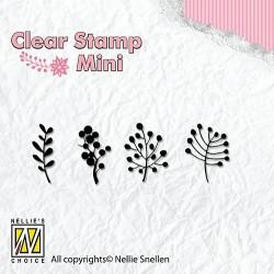 Transp.razítka Mini - větvičky jeřabin (Nellie´s Choice)