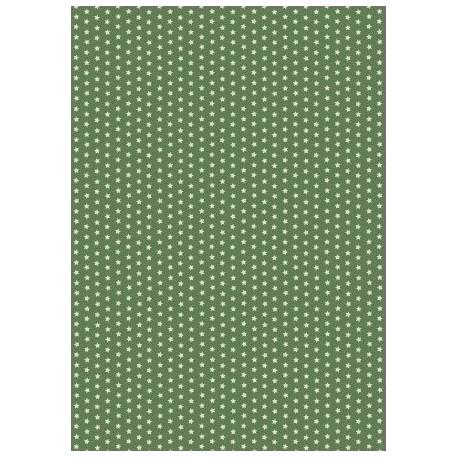 Pergamen hvězdičky - olivově zelená, 150g A4