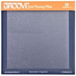 Akrylová deska pro děrování - body diagonálně (GROOVI)