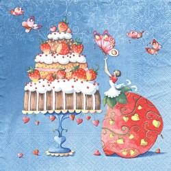 Jahodový dort 33x33