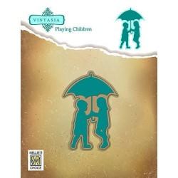Vyřez.šablony - chůze v dešti (Nellie´s Choice)