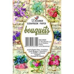 Sada scrap.kartiček 7x10,8cm - Bouquets (Decorer)
