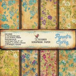 Sada papírů Romantic Spring 15x15 (Decorer)