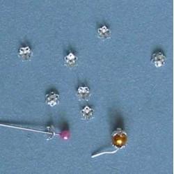 Kaplík postříbřený 6mm/2,5mm - 5ks